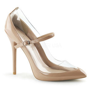 Shoes - Mary Jane Pointy High Heel Shoes Stiletto Clear